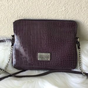 Kenneth Cole Reaction Faux Croc Embossed Crossbody